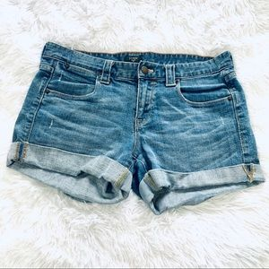 J Crew Factory stretch distressed shorts size 4